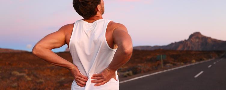 llustrasi pria mengalami nyeri punggung.